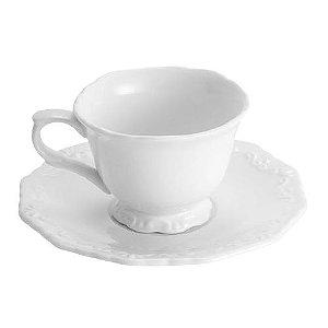 Xícara café C/pires Porcelana Fancy Branco