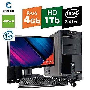 Computador + Monitor 19,5 Intel Dual Core 2.41ghz 4gb Hd 1tb Certo Pc Fit 043