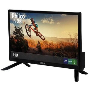 "TV LED 28"" Philco PH28N91D HD com Conversor Digital 1 USB 1 HDMI - Preta"