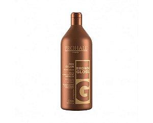 Prohall - Máscara Matizadora Brown Gloss Efeito Morena Iluminada Caramelo 500ML