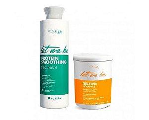 Let Me Be - Progressiva Passo Único + Gelatina Hidratante (2X1000ml)