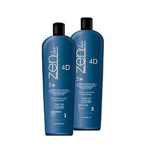 Zen Hair - Escova Progressiva Plástica dos Fios 4D Matizadora (2x1000ml)