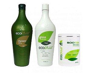 Kit Ecoplus - Escova Progressiva (2x1000ml) + Btox Capilar 1kg