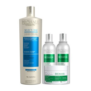 Prohall - Escova Ôrganica Select One 1L + Kit Ultra Hidratante Biomask