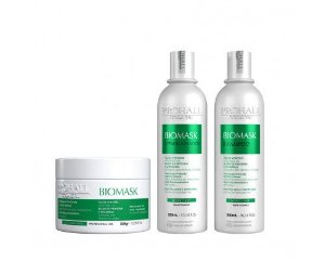 Prohall - Kit Ultra Hidratante Biomask Brilho Intenso