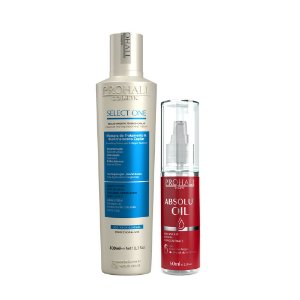 Prohall - Escova Select One Sem Formol 300ml e Absolut Oil Reparador de Pontas 60ml