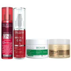 Prohall - Kit Absolut + Biomask 300g + Extreme Repair 300g