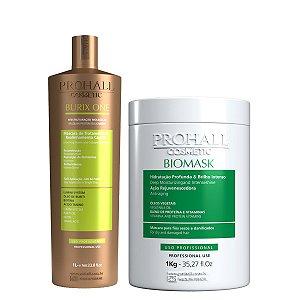 Prohall - Progressiva Vegana Burix One (1000ml) + Máscara Hidratação Biomask (1000g)