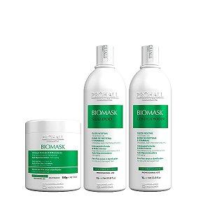 Prohall - Kit Professional Biomask Ultra Hidratante 1 litro com Máscara de 500g