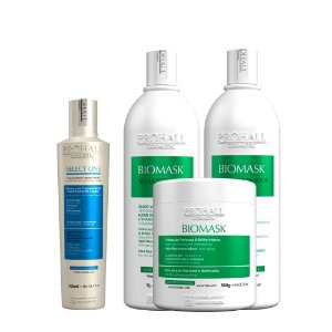 Prohall - Escova Progressiva Orgânica Select One 300ml + Kit Biomask Professional