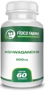 Ashwagandha (Withania somnifera, GINSENG INDIANO) 500mg 60 Cápsulas