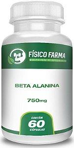 Beta Alanina 750 mg 60 cápsulas