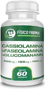 FASEOLAMINA 200mg + CASSIOLAMINA 150mg + GLUCOMANANN 100mg 60 Cápsulas