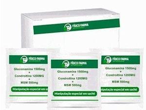 Glucosamina + Condroitina + Msm 30 Sachês Sabor Laranja