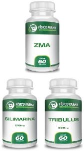 Kit Tpc (silimarina + Tribullus + Zma) 60 Cápsulas Cada