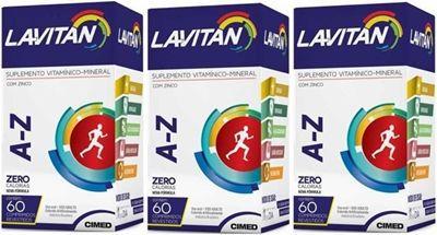Lavitan A-Z c/ 60 Drágeas KIT 3 Caixas ( total 180 drágeas)