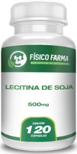 Lecitina de Soja 500mg - 120 capsulas
