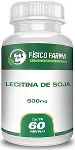 Lecitina de Soja 500mg - 60 capsulas