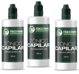 MINOXIDIL 5% 100mL KIT 3 unidades