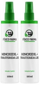 MINOXIDIL 5% + Finasterida Like ( Sfíngoni ) 100mL Spray kit com 2 unidades