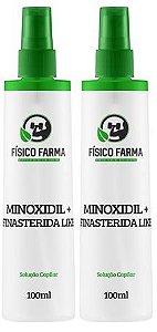 MINOXIDIL 5% + Finasterida Like ( Sfíngoni ) 100mL Spray kit com 2 unidades