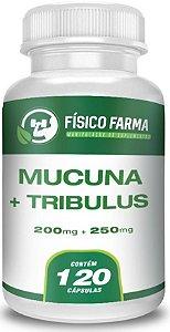 MUCUNA 200mg TRIBULLUS TERRESTRIS 250mg 120 Cápsulas