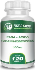 PABA - Ácido Paraminobenzóico 100mg - 120 Cápsulas