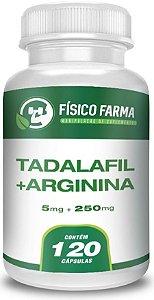 TADALAFILA 5mg + ARGININA 250mg 120 Cápsulas