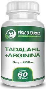 TADALAFILA 5mg + ARGININA 250mg 60 Cápsulas