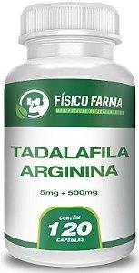 TADALAFILA 5mg  + ARGININA 500mg 120 Cápsulas