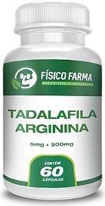 TADALAFILA 5mg  + ARGININA 500mg 60 Cápsulas