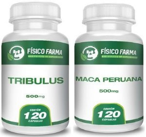 TRIBULLUS TERRESTRIS + MACA PERUANA KIT COM 120 CÁPSULAS CADA