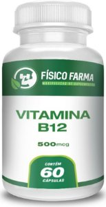 VITAMINA B12 (METILCOBALAMINA) 500mcg 60 Cápsulas