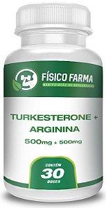 Turkesterone 500mg + L-Arginina 500mg 30 Doses