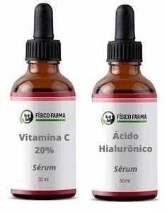 Sérum Vitamina C 20% 30mL + Ácido Hialurônico 2% em Sérum 30mL