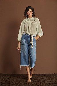 Pantacourt Desfiado Jeans