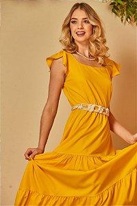 Vestido Longuete Crepe Four Way