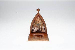 Oratório Padroeiros com porta intenções