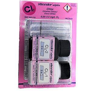 Analisador para Cloro Livre 0,25-2,0 Até 150 testes - Kit Visocolor Alpha
