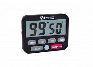 Timer Digital C/ Cronômetro E Alarme T-tim-0050.00 Incoterm