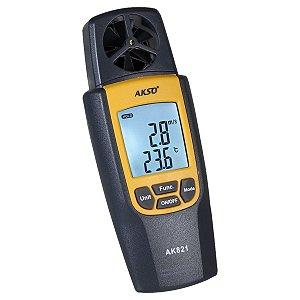 Termo Higro Com Anemômetro Digital Verdadeiro 3 Em 1 Akso AK821
