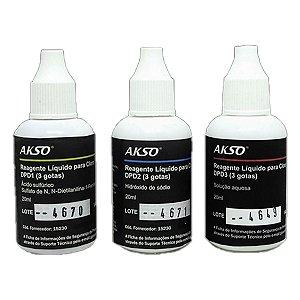 Reagente Líquido para Cloro Livre e Total 100 testes para medidor mw10, 11 e mi411