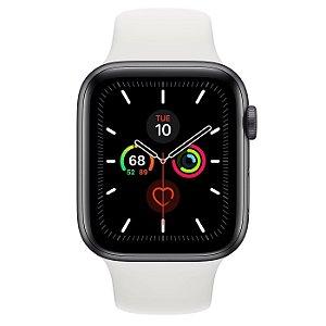 Watch Series 5 40mm Caixa Prateado de Alumínio com Pulseira Branca Esportiva: Modelo GPS