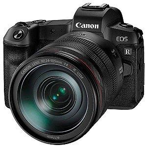 "Câmera Canon EOS R 30.3MP 3.15"" + Lente RF 24-105mm F4 L IS USM KIT - Preta"