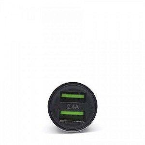 Adaptador veicular com 2 USB - iWill