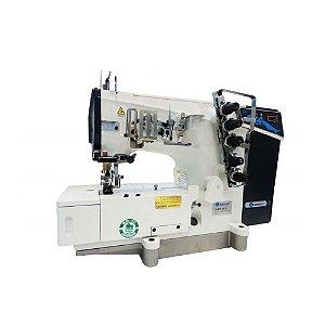 Máquina de Costura Galoneira Industrial Sansei SA-MW1-364/DD 3 agulhas Direct Drive