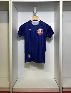 Camisa Náutico - Listrada Azul/ Escudo atual - Dry