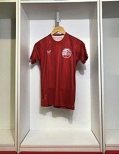 Camisa Náutico - Listrada Vermelha/ Escudo atual - Dry