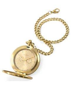 Relógio de Bolso Dourado Masculino Technos Heritage - VD77AC/4X