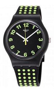 Relógio Swatch Originals Preto/Verde - SUOB147
